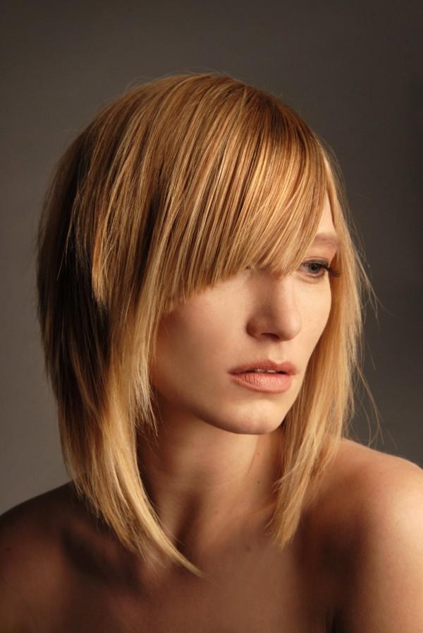 стрижка голливуд на длинные волосы фото